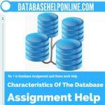 Characteristics Of The Database